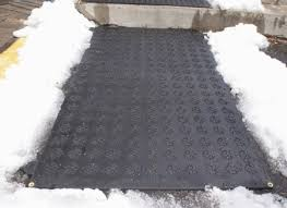 flakes electric outdoor heated rubber snow melting mats for