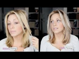 best toner for highlighted hair how to tone brassy hair into cool toned blonde in 15 minutes at