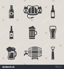 beer vector beer vector icons set bottle glass stock vector 259395743