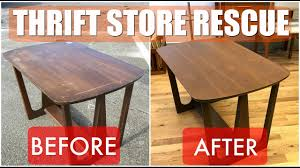 Coffee Table Store Thrift Store Rescue 2 Mid Century Table Refinish Reglue