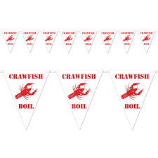 crawfish party supplies 12ct beistle crawfish boil pennant banner bulk party supplies