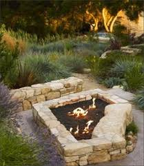 rustic fire pit landscaping ideas fire outdoor kitchens