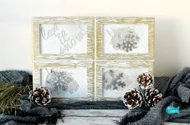 Home Decor Tutorial by Rustic Frosted Frames Winter Home Decor Diy Project Tutorial