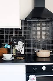 backsplash kitchen tiles black black tile bathroom large white