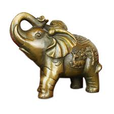 open the light copper elephant ornaments feng shui lucky