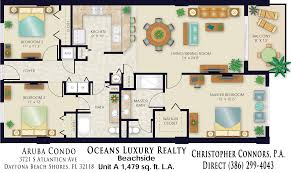 luxury townhome floor plans aruba condos floor plan 3721 s atlantic ave 32118 daytona