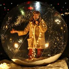 transparent inflatable snow globe christmas snow ball decoration