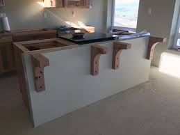 Unfinished Wood Corbels Construction Countertop Installation An Eclectic Mind