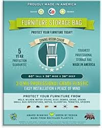 amazon com four count furniture storage bags dining room chair 3