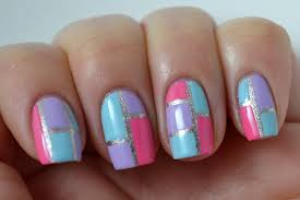 colors block your nails with these beautiful color block nail art