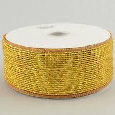 deco mesh ribbon 2 5 poly deco mesh ribbon metallic gold brown rs200463