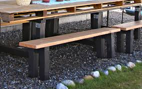 Outdoor Tables And Benches Easy Diy Benches Outdoor Furniture Kleinworth U0026 Co