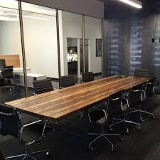 Conference Room Desk Conference Room Table In Thick 2 5 Top And Reclaimed Wood And
