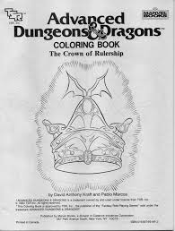 advanced dungeons u0026 dragons coloring book the crown of rulership