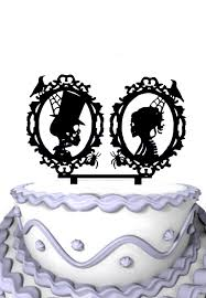 Halloween Wedding Cake Ideas by Acrylic Halloween Wedding Cake Decoration Skeleton Silhouette