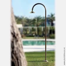 Outdoor Shower Fixtures Copper - origo copper outdoor shower with mixer fontealta outdoor