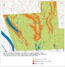 Property Value Map Tully Valley Landslide Study