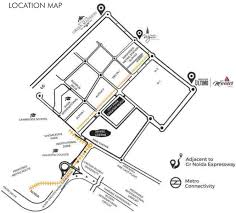 Greater Noida Metro Map by Migsun Mannat In Omicron Greater Noida Price Location Map