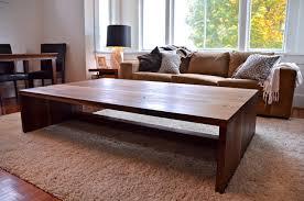 large living room coffee table large walnut coffee table