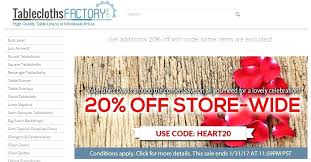 table cloths factory coupon tableclothsfactory com coupon table factory coupon code tablecloths