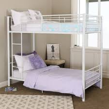Metal Bunk Bed Frame Twin Over Twin White Metal Bunk Bed