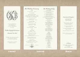 Sample Of Wedding Program Tall Skinny Wedding Program Diy Wedding U2022 50470