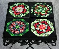 Ceramic Accent Table by Mandala Chakra Kaleidoscope Unique Gifts Melbe Creations