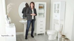 Tall White Linen Cabinet Bathroom Linen Tower Bathroom Storage Tower White White Linen