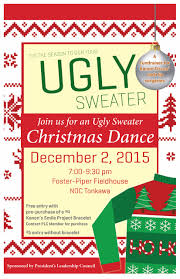ugly sweater christmas dance u201d fundraiser kannon fiscus 7 9 30