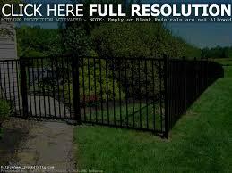 decoration amazing decorative aluminum fence designs black