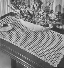 Filet Crochet Patterns For Home Decor Pdf Table Runner Crochet Pattern Shingles Design Hutch Doily