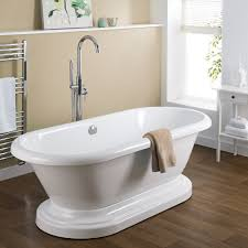 1800mm oval freestanding bath with base