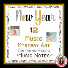 Music New Year Activities 12 Music Coloring Pages Music Mystery Art Mystery Coloring Pages