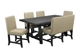 Dining Room Bench Sets Jaxon 6 Piece Rectangle Dining Set W Bench U0026 Uph Chairs Living