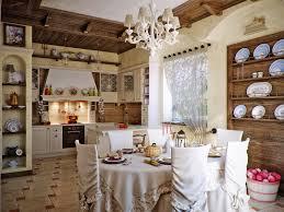 Antique White Country Kitchen Cabinets Kitchen Style Spacious Country Kitchen Design White Chandelier