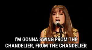 Lyrics To Chandelier Chandelier Live On Snl Lyrics Sia Song In Images