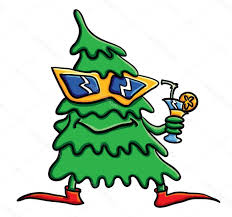 hd stock illustration cartoon christmas tree with cocktail file free