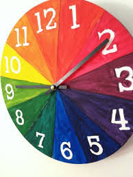 diy color wheel clock u2022 learn time and the colors at the same