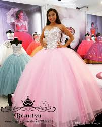 quinceanera dresses pink pink princess gown quinceanera dresses sparkly crystals lace