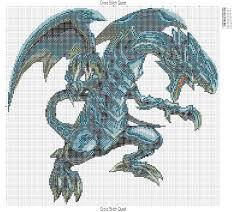 free blue eyes white dragon cross stitch pattern yu gi oh u2013 cross