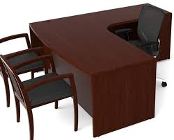 Executive L Desk by Ruby Executive L Shape Office Desk Bow Front W Extended Corner
