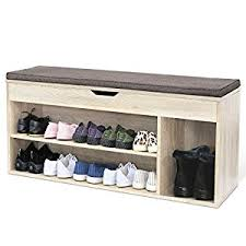 homfa shoe storage rack wooden ottoman hallway bench versatile
