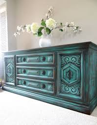 Turquoise Cabinet Pintado A Mano Vintage Francés País Cottage Por Erikaszilvaidesign