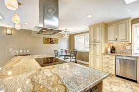 kitchen island with granite spacious kitchen room with tile floor big kitchen island with