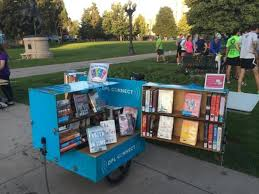denver public library has a tiny library u2014 on a bicycle u2013 the