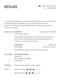 Example Of A Simple Resume by Example Of Resume Template Choose Examples Of Resume Format
