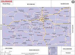 map us states colorado colorado road map highways in colorado