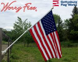 Boat Flag Poles Worry Free American Flag Set