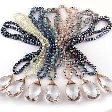 long drop pendant necklace images Lumen long bohemian necklace with glass drop pendant trndz jpg