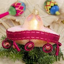 Mexican Decoration For Christmas by Mexican Sombrero Christmas Ornaments Make Lively Fiesta